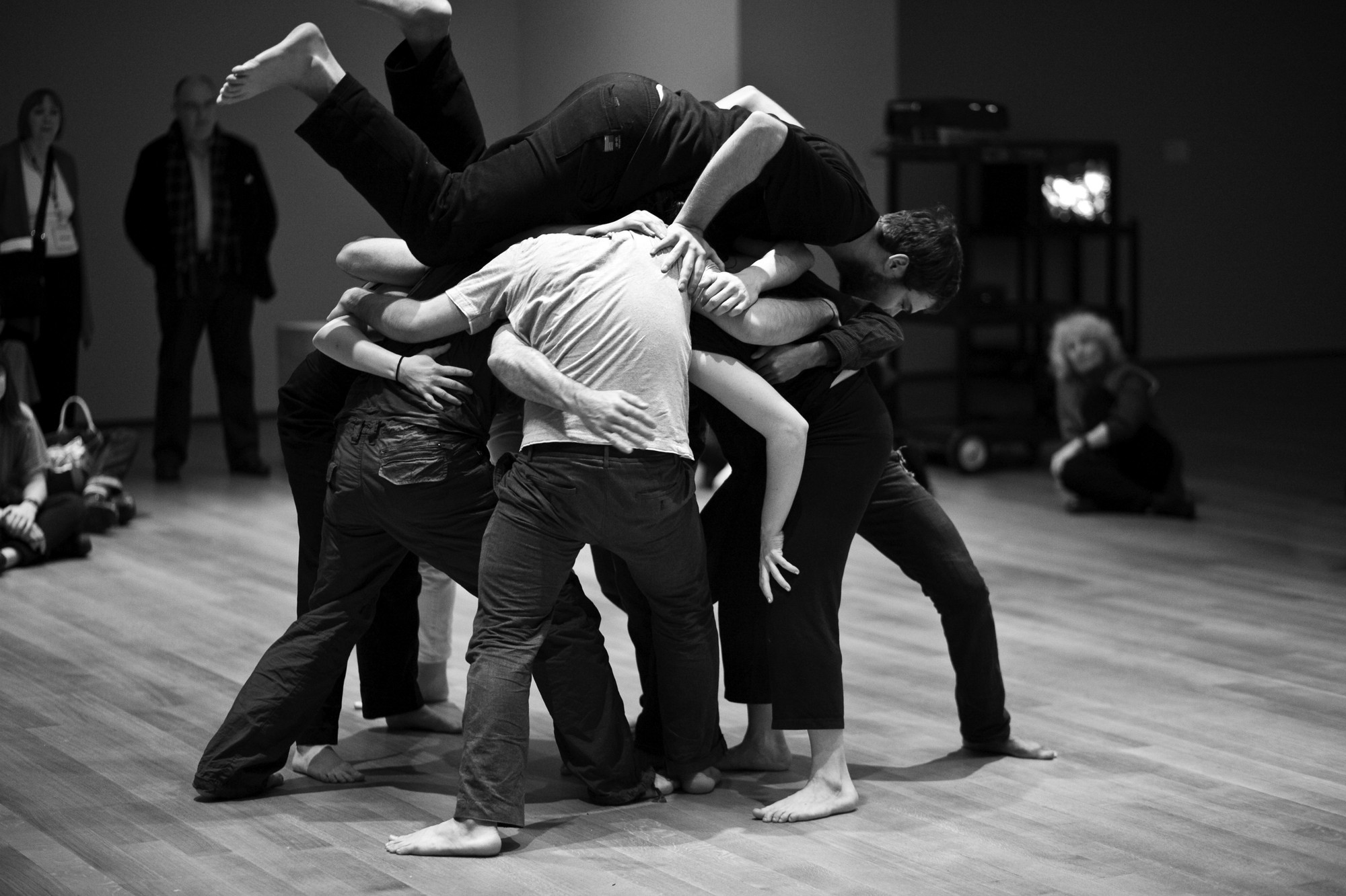Simone Forti. Huddle, 1961. Performance. 10 min. Committee on Media and Performance Art Funds. © 2018 The Museum of Modern Art, New York. Performed in Performance 2: Simone Forti, The Museum of Modern Art, New York, March 7 - 8, 2009. Digital image: © 2018 Yi-Chun Wu/The Museum of Modern Art, New York