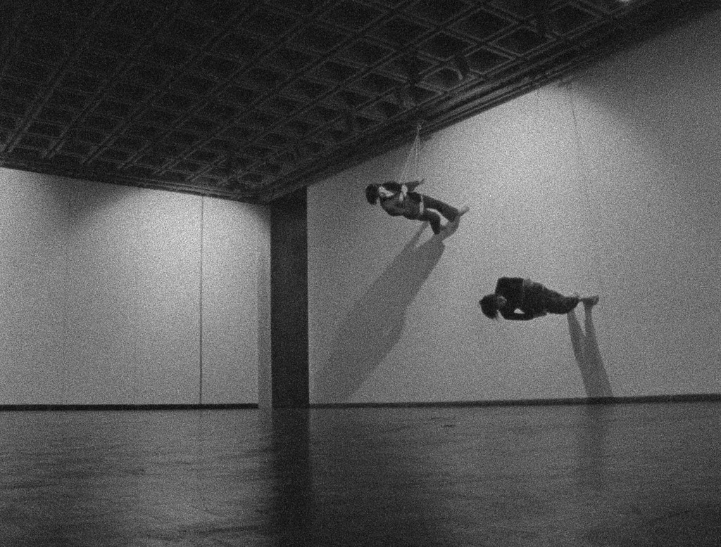 Trisha Brown. *Still from Walking on the Wall*, 1971. Film by Elaine Summers