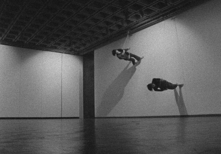 Trisha Brown. Still from Walking on the Wall, 1971. Film by Elaine Summers