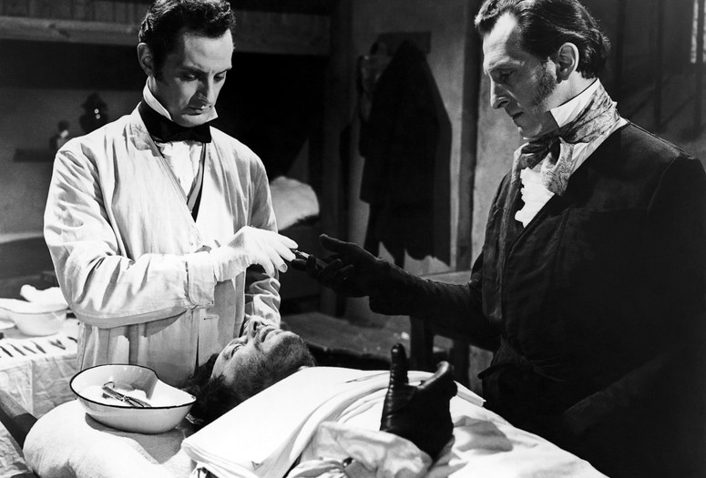 <em>The Revenge of Frankenstein</em>. 1958. Great Britain. Directed by Terence Fisher. Courtesy of Columbia Pictures/Photofest