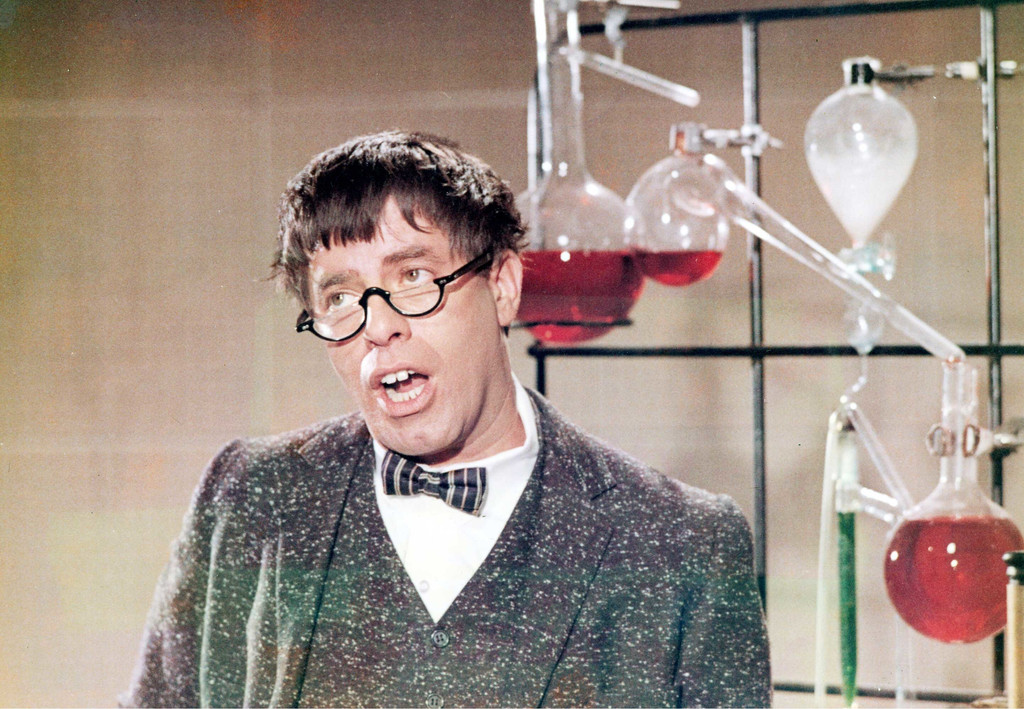 Jerry Lewis as the Nutty Professor on *The Jerry Lewis Show*, NBC, 1967–69. Courtesy NBC/Photofest
