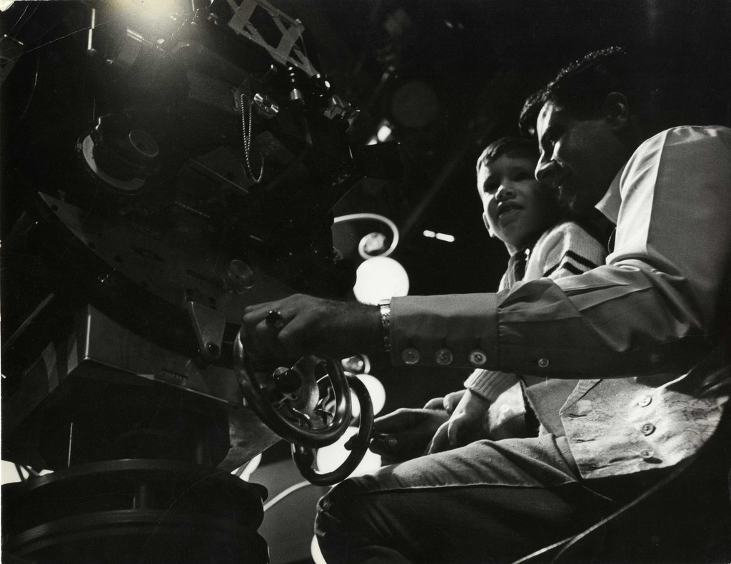 Chris Lewis and Jerry Lewis on the set of *The Nutty Professor*, 1962. Courtesy Chris Lewis