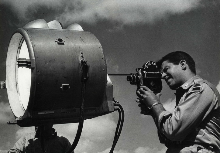 Jerry Lewis shooting a home movie production,1953. Photo: Bill Avery. Courtesy Chris Lewis