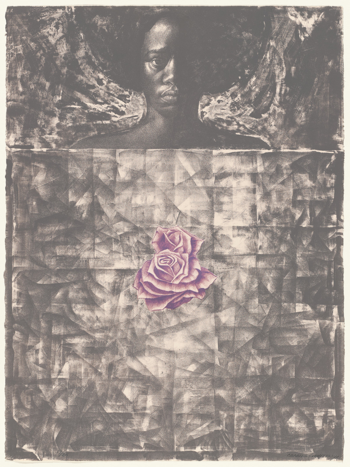"Charles White. _Love Letter I_. 1971. Lithograph, 30 1/16 x 22 3/8"" (76.4 x 56.8 cm). The Museum of Modern Art, New York. John B. Turner Fund. © The Charles White Archives/ Digital Image © The Museum of Modern Art/ Licensed by SCALA/Art Resource, NY"