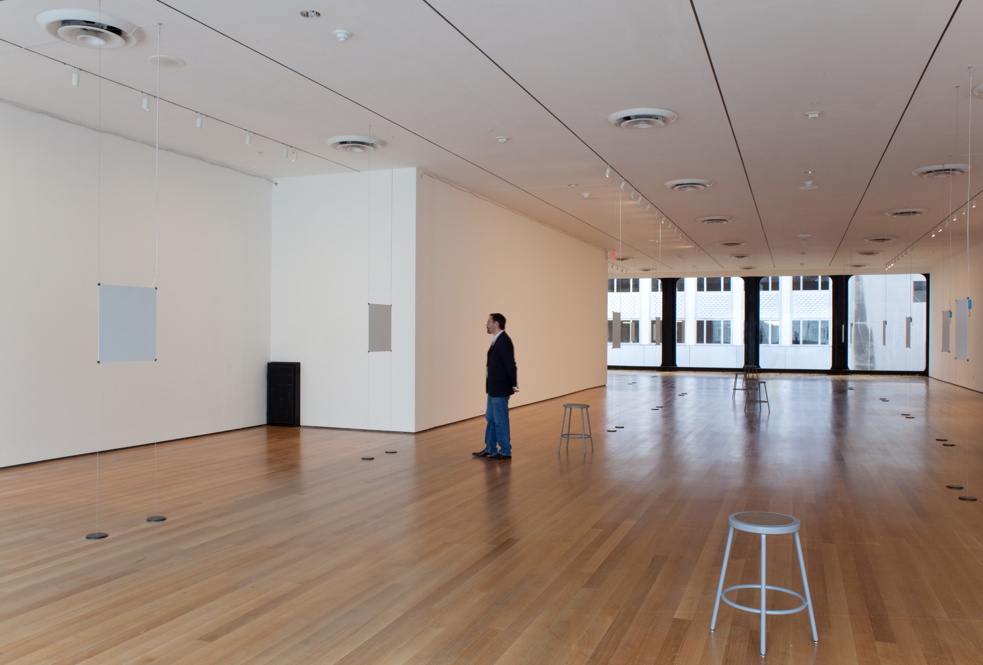 Bruce Nauman. Days. 2009. Stereo audio files, speakers, amplifiers, and additional equipment. The Museum of Modern Art, New York, Committee on Painting and Sculpture Funds, gift of The Mimi and Peter Haas Fund, Agnes Gund, The Hess Foundation, Michael Ovitz, Jerry I. Speyer, Marie-Josée and Henry R. Kravis Foundation, Donald B. Marron, and The Jill and Peter Kraus Contemporary Acquisition Fund and Emanuel Hoffmann Foundation, gift of the President, on permanent loan to Öffentliche Kunstsammlung Basel.