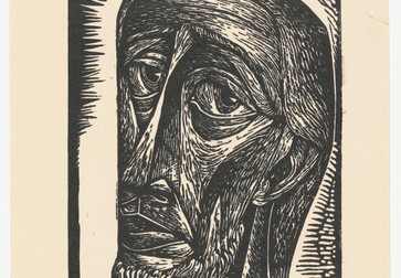 "Charles White. Untitled (Bearded Man). c. 1949. Linoleum cut. Composition: 7 13/16 x 6"" (19.9 x 15.2 cm); sheet: 10 ½ x 8 5/16"" (26.7 x 21.1 cm). John B. Turner Fund. © 2018 The Charles White Archives. Photo: Peter Butler"
