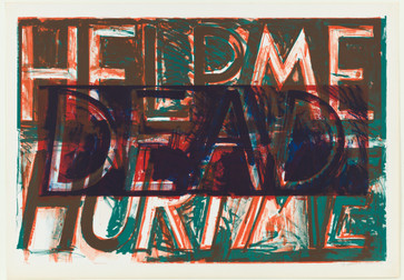 "Bruce Nauman. Help Me Hurt Me. 1975. Lithograph. 32 3/8 x 48 ¼"" (82.2 x 122.5 cm). Jeanne C. Thayer Fund. © 2018 Bruce Nauman / Artists Rights Society (ARS), New York. Photo: Thomas Griesel"