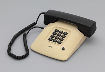 "Davorin Savnik. ETA 85 Telephone. 1979. Plastic and other materials. 2 7/8 x 8 ¾ x 10"" (7.3 x 22.2 x 25.4 cm). Gift of the Museum of Architecture and Design, Ljubljana, Slovenia. Photo: Thomas Griesel"