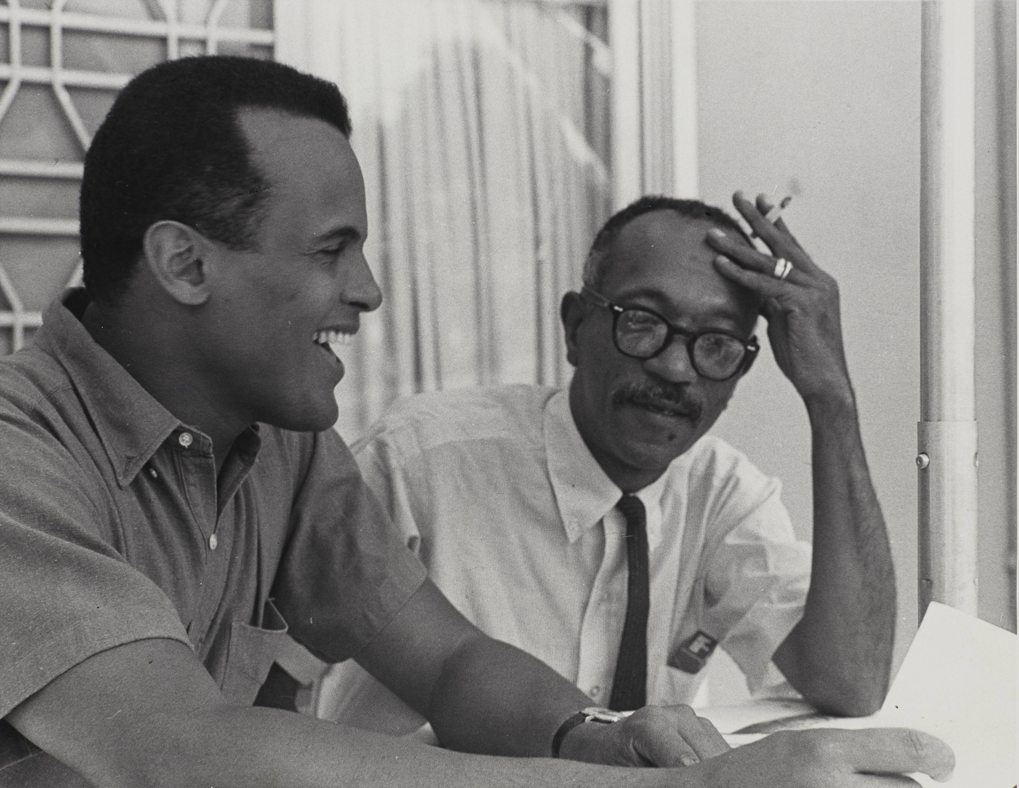 Harry Belafonte and Charles White, c. 1960