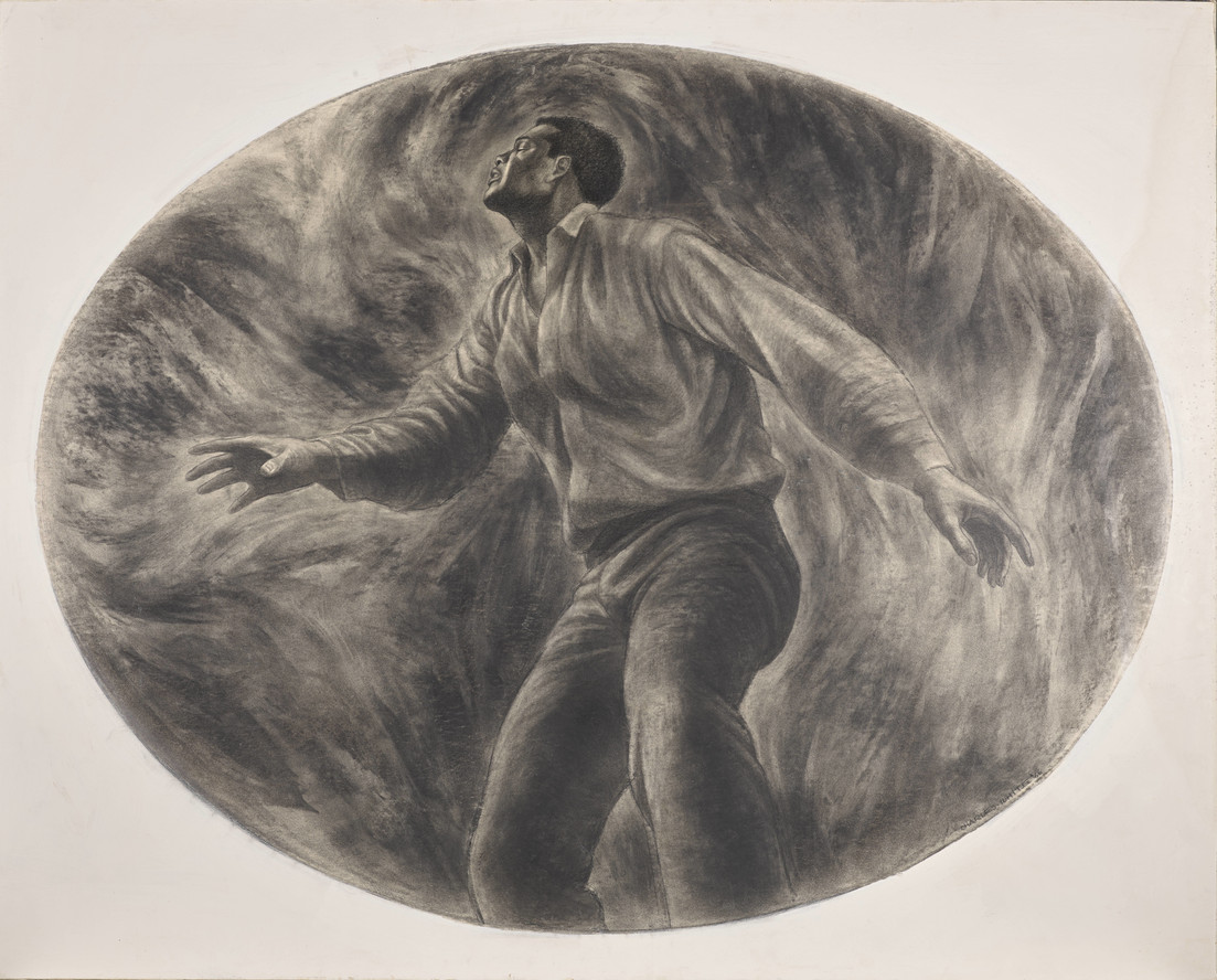 J'Accuse #6 (1966), on view in Charles White: A Retrospective