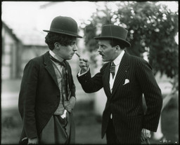 Charles Chaplin and Max Linder. Image © Roy Export Company Ltd.