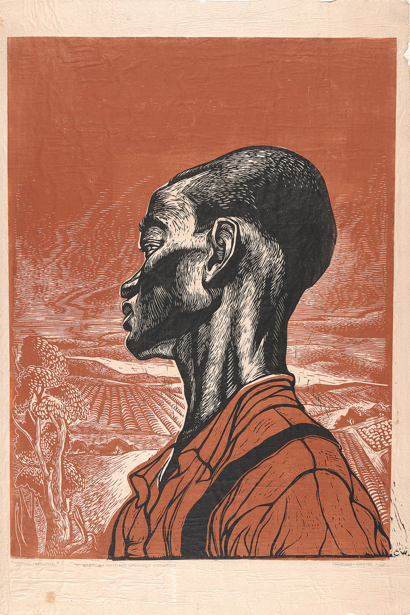 Charles White. Young Farmer. 1953.