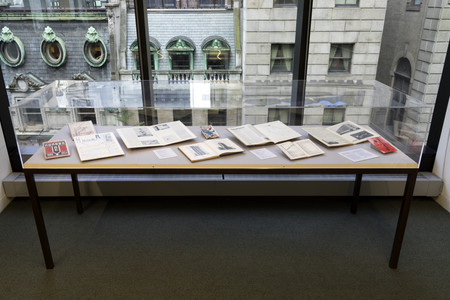 Installation view of <em>BAUHAUS↔VKhUTEMAS: Intersecting Parallels</em>, The Museum of Modern Art Library, September 24–October 26, 2018. The Museum of Modern Art Library. Photo: Robert Gerhardt