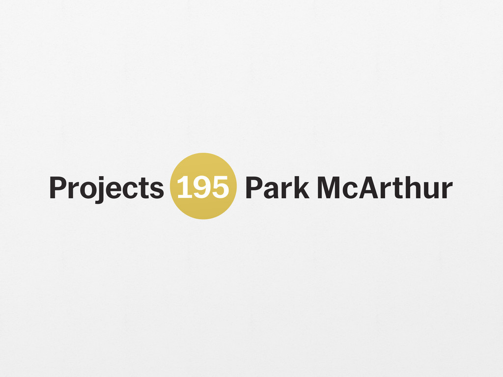 Park McArthur. *Is this an investment, pied-à-terre, or primary residence?* 2018. Paint on wall; altered Museum of Modern Art Projects logo scaled to gallery dimensions. Edition: 3 + 1 AP. Courtesy the artist and ESSEX STREET, New York