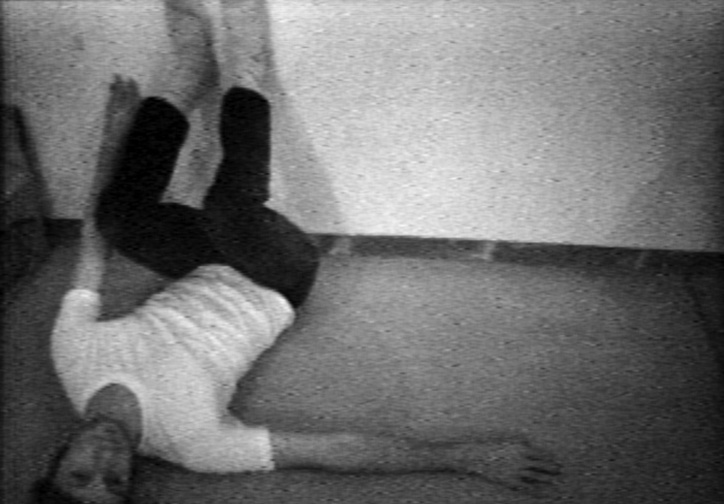 Bruce Nauman. Wall-Floor Positions. 1968. Video (black and white, sound), 60 min.  The Museum of Modern Art, New York. Purchase, 2012. Distributed by Electronic Arts Intermix (EAI). © 2018 Bruce Nauman/Artists Rights Society (ARS), New York