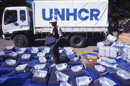 UNHCR United Nations High Commissioner for Refugees UNHCR Plastic Sheeting c. 1985