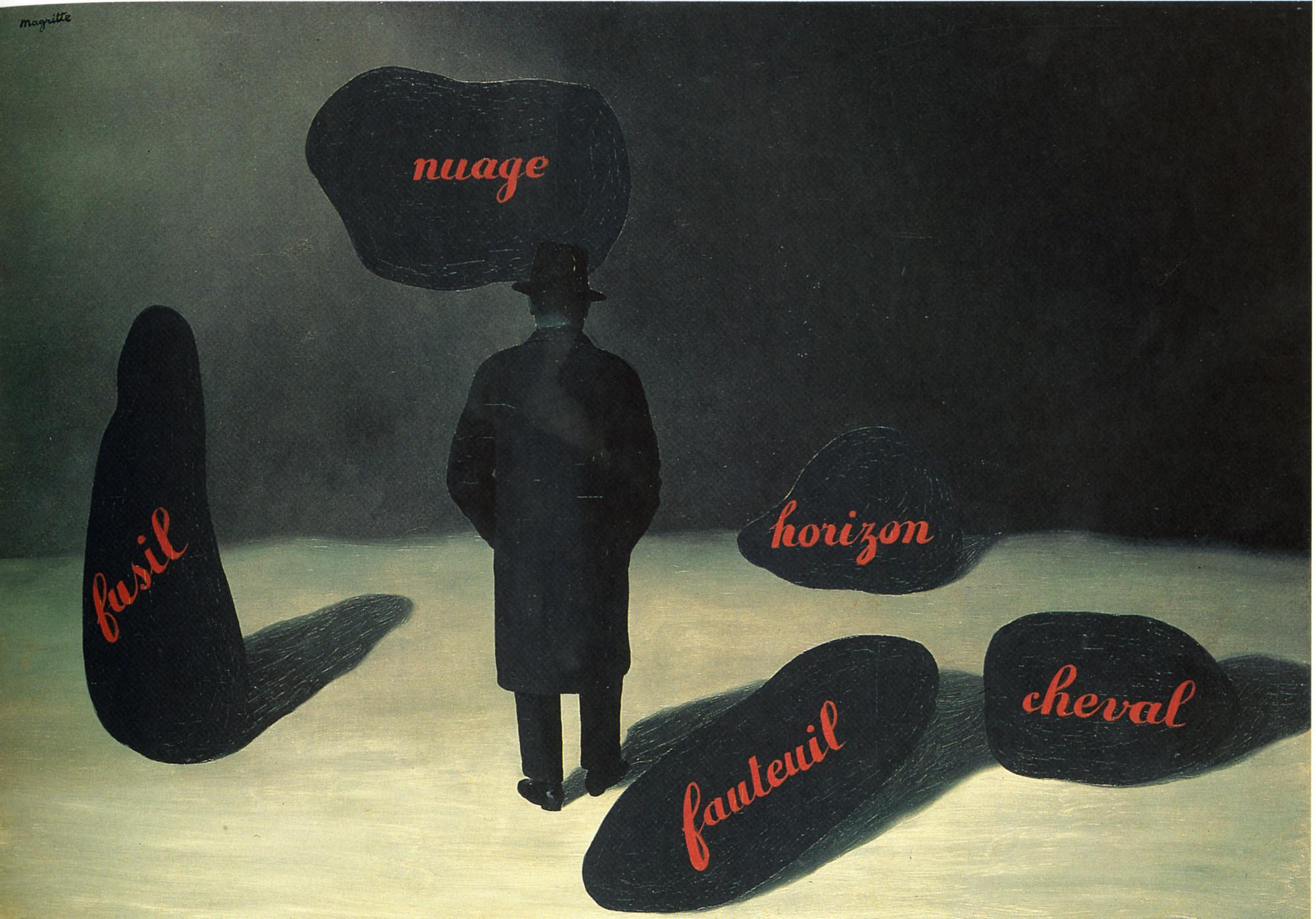 René Magritte. L'Apparition (The Apparition). Paris, 1928 | MoMA