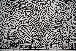 "Keith Haring. Untitled (detail). 1982. Ink on two sheets of paper, Sheet: 72 x 671 1/2"" (182.9 x 1705.6cm) Part (panel a): 72 x 360 3/4"" (182.9 x 916.3 cm) Part (panel b): 72 x 310 1/4"" (182.9 x 788 cm). Gift of the Estate of Keith Haring, Inc. © 2011 The Keith Haring Foundation"