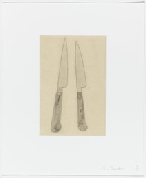 "Chris Burden. Coyote Stories. 2005. Portfolio of ten etchings, five with aquatint, and 25 digital prints with chine collé plate: (see child records); sheet (each): 14 15/16 x 12 3/8"" (38 x31.5 cm). Monroe Wheeler Fund"