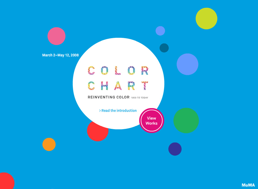 Interactives: screenshot from Color Chart Reinventing Color 1950 to Today, 2008