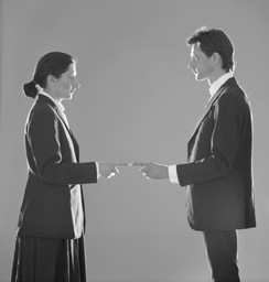 Marina Abramovic/Ulay. Point of Contact. 1980. Originally performed for 1 hour at De Appel Gallery, Amsterdam. Courtesy Marina Abramovic Archive and Sean Kelly Gallery, New York. © 2009 Marina Abramovic