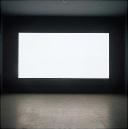 "Alfredo Jaar (Chilean, born 1956). _Lament of the Images_. 2002. Plexiglass text panels, light wall, and mixed media, Each text panel 23 x 20"" (58.4 x 50.8 cm), light wall 6 x 12' (182.9 x 365.8 cm). The Museum of Modern Art, New York. Latin American and Caribbean Fund, 2010. © 2015 Alfredo Jaar"