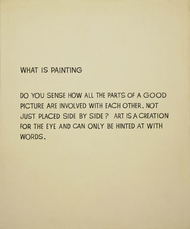 John Baldessari. What Is Painting. 1966–68