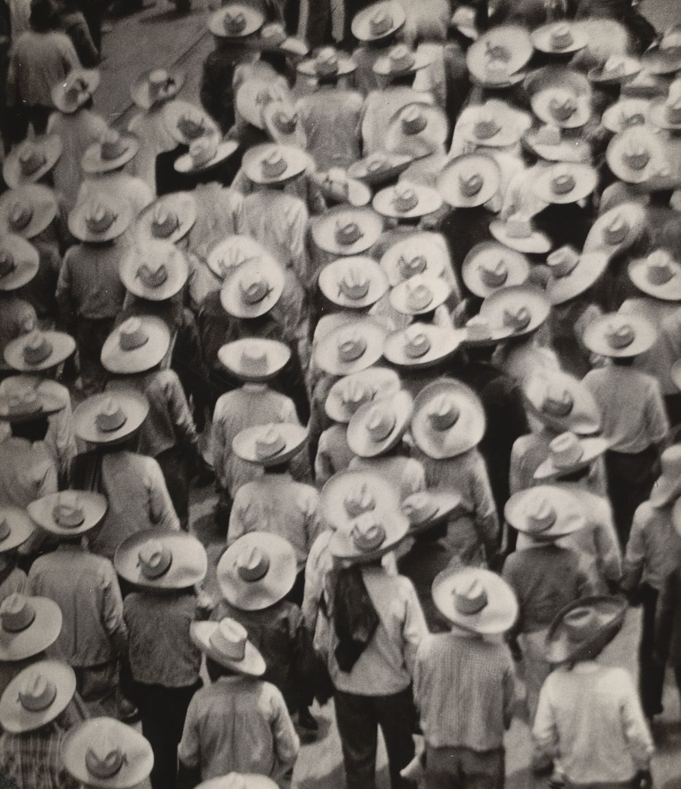 "Tina Modotti. Workers Parade. 1926. Gelatin silver print, 8 7/16 x 7 5/16"" (21.5 x 18.6 cm). The Museum of Modern Art, New York. Given anonymously"