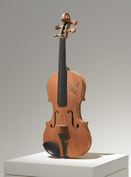 Self-Playing Violin Laurie Anderson (American, born 1947)   Modified violin with built-in speaker and amplifier (sound), 23 x 10 x 4 1/2 in., 31 min. Gift of Agnes Gund and Daniel Shapiro, and the Rockefeller Fund. © 2013 Laurie Anderson 192.2007