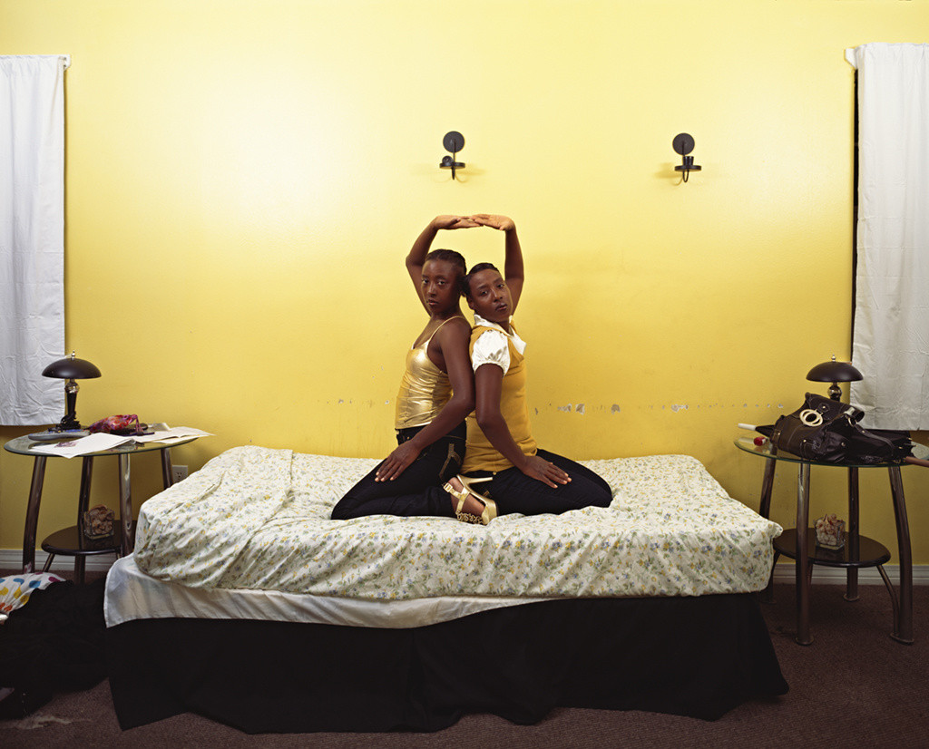 "Deana Lawson. Roxie and Raquel. 2010. Pigmented inkjet print, 30 15⁄16 x 38 9⁄16"" (78.6 x 97.9 cm). The Museum of Modern Art, New York. Fund for the Twenty-First Century. © 2011 Deana Lawson"