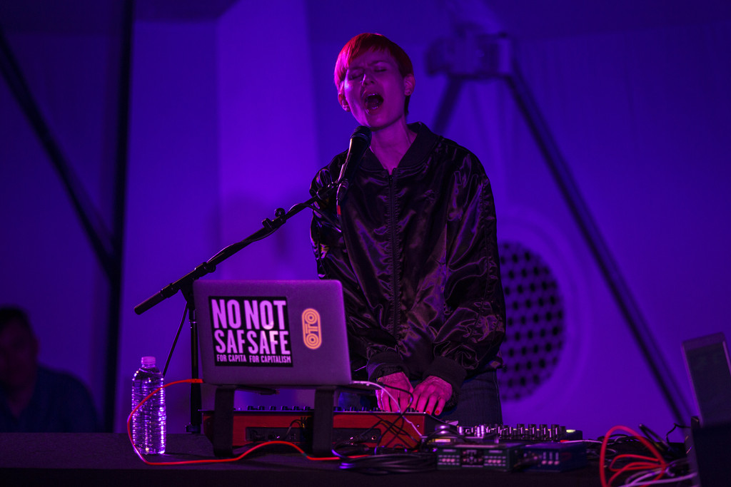 Jenny Hval on March 17, 2018, presented at MoMA PS1 as part of VW Sunday Sessions 2017-2018. Photo by Maria Baranova.