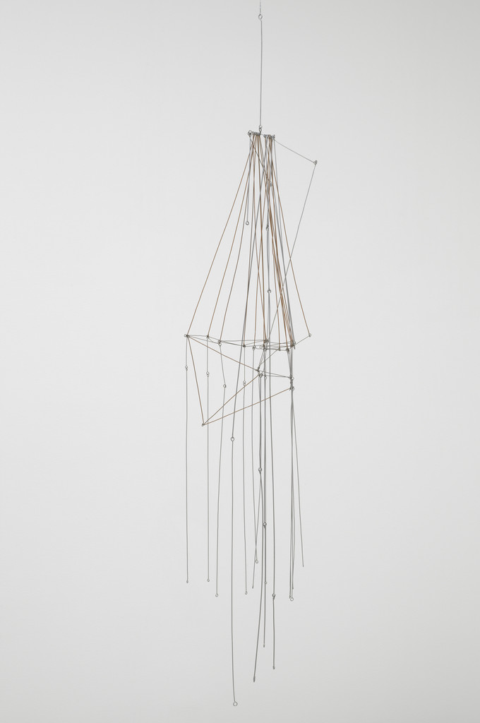 "Gego (Gertrud Goldschmidt). *Stream no. 7. Chorro no. 7*. 1971. Iron and aluminum, 86 × 16 × 16"" (218.5 × 40.7 × 40.7 cm). Promised gift of Patricia Phelps de Cisneros through the Latin American and Caribbean Fund in honor of Susan and Glenn Lowry. © 2018 Fundación Gego"