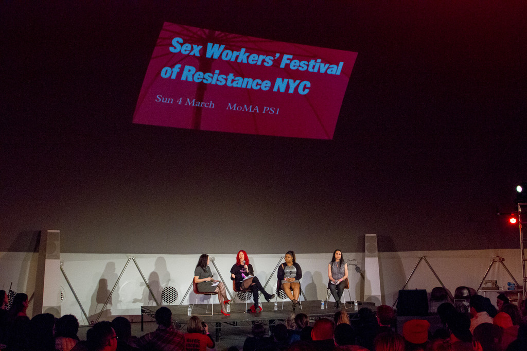 Sex Workers' Festival of Resistance on March 4, 2018, presented at MoMA PS1 as part of VW Sunday Sessions 2017-2018. Photo by Derek Schultz.