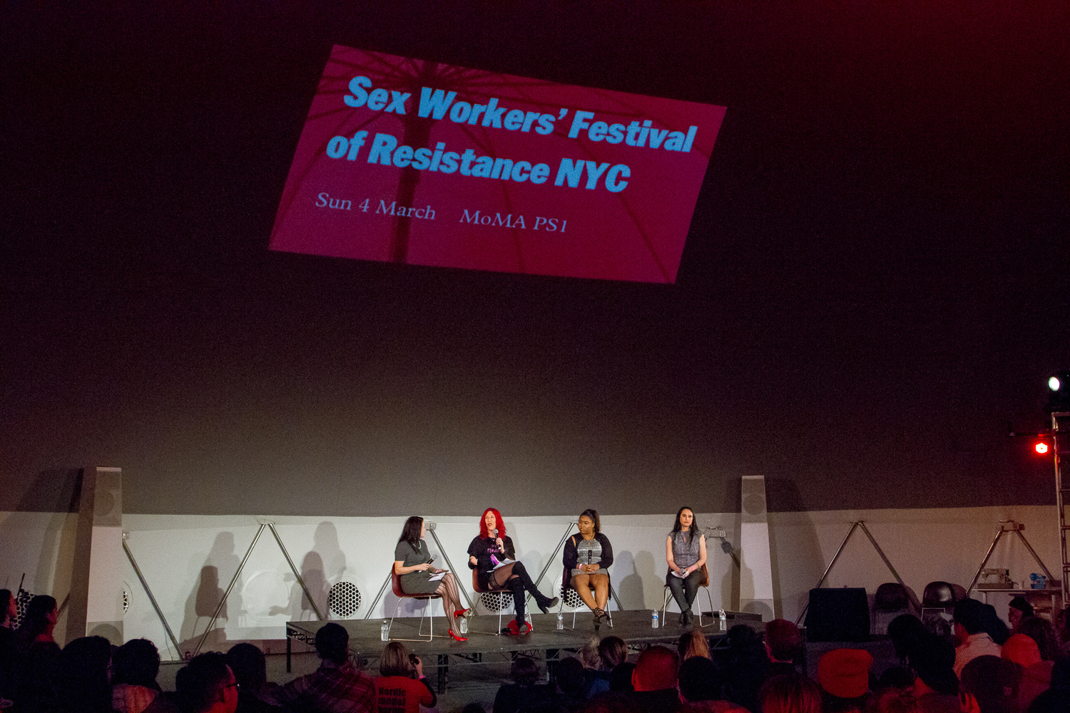 Sex Workers' Festival of Resistance on March 4, 2018. Presented at MoMA PS1 as part of VW Sunday Sessions 2017-2018. Photography: Derek Schultz.