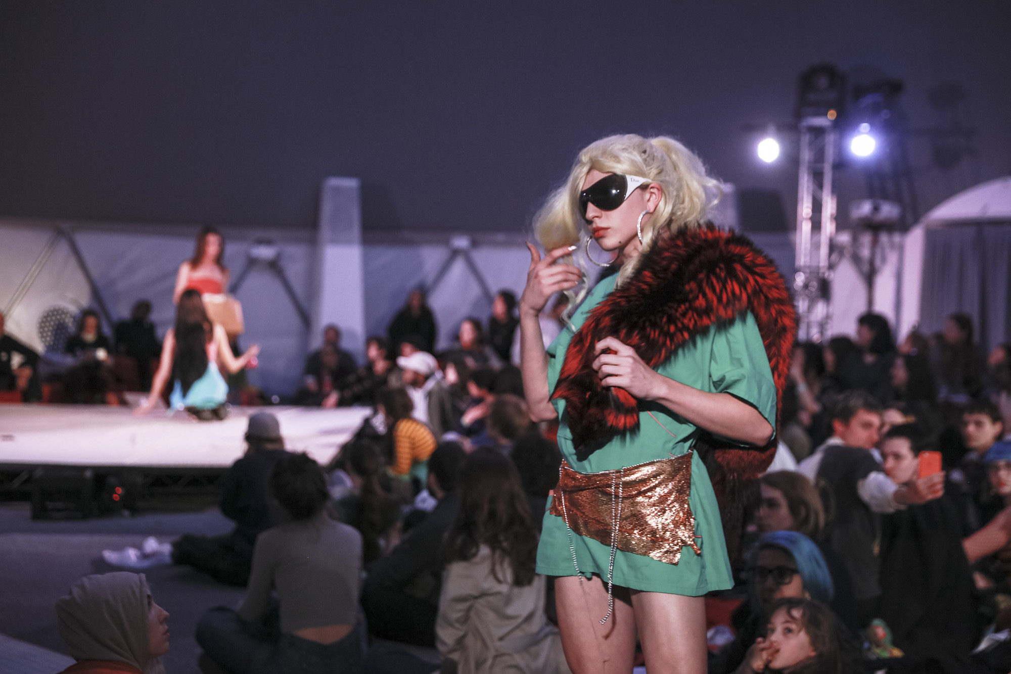 Crumbling World Runway on February 5, 2017, presented at MoMA PS1 as part of VW Sunday Sessions 2016-2017. Photo by Charles Roussel.