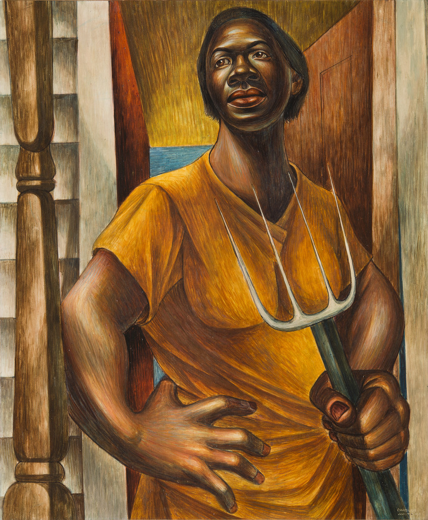 Charles White. *Our Land*. 1951. Egg tempera on panel, 24 x 20″ (61 x 50.8 cm). Private Collection. © The Charles White Archives/Photo: Gavin Ashworth. Courtesy Jonathan Boos