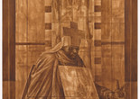 "Charles White. Black Pope (Sandwich Board Man). 1973. Oil wash on board, 60 × 43 7⁄8"" (152.4 × 111.4 cm). Richard S. Zeisler Bequest (by exchange), The Friends of Education of The Museum of Modern Art, Committee on Drawings Fund, Dian Woodner, and Agnes Gund. © 2018 The Charles White Archives"