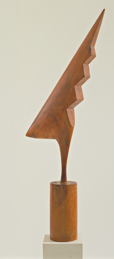 "Constantin Brancusi. The Cock. 1924. Cherry, 47 5⁄8 x 18 1⁄4 x 5 3⁄4"" (121 x 46.3 x 14.6 cm). Gift of LeRay W. Berdeau. © Succession Brancusi - All rights reserved (ARS) 2018"