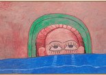 "Philip Guston. Source. 1976. Oil on canvas, 6' 3"" x 9' 9"" (190.5 x 297.2 cm). Gift of Edward R. Broida in honor of Uncle Sidney Feldman. © 2018 The Estate of Philip Guston"