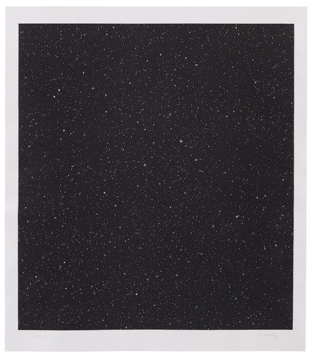 "Vija Celmins. Untitled (Large Night Sky). 2016. Mezzotint, plate: 36 5⁄8 × 33 1⁄16"" (93 × 84 cm); sheet: 41 5⁄16 × 35 13⁄16"" (105 × 91 cm). Simmelink/Sukimoto Editions, Ventura, California. Gift of Jack Shear. © Vija Celmins, Courtesy Matthew Marks Gallery"