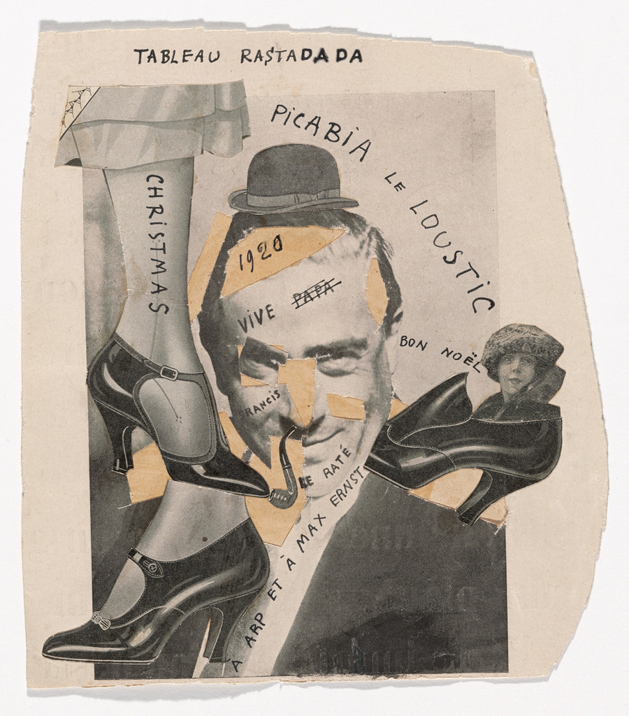 "Francis Picabia. Tableau Rastadada. 1920. Cut-and-pasted printed paper on paper with ink, 7 1/2 x 6 3/4"" (19 x 17.1 cm). Gift of Abby Aldrich Rockefeller (by exchange). © 2018 Artists Rights Society (ARS), New York/ADAGP, Paris"