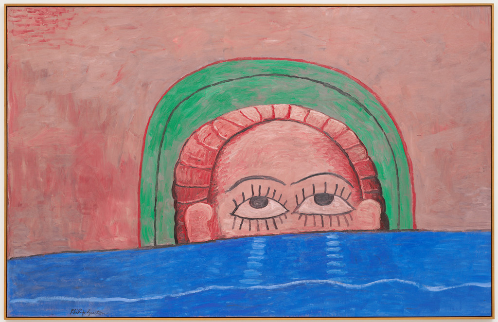 "Philip Guston. *Source*. 1976. Oil on canvas, 6' 3"" x 9' 9"" (190.5 x 297.2 cm). Gift of Edward R. Broida in honor of Uncle Sidney Feldman. © 2018 The Estate of Philip Guston"