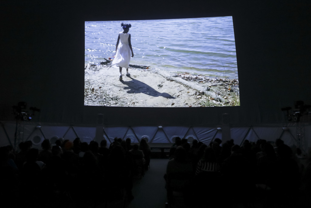 *Comrade, what is your visual bond today?* on February 7, 2016, presented at MoMA PS1 as part of VW Sunday Sessions 2015-2016. Photo by Charles Roussel.