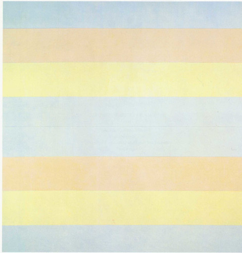 "Agnes Martin. With My Back to the World. 1997. Synthetic polymer paint on canvas, six panels, each 60 x 60"" (152.5 x 152.5 cm). Fractional and promised gift of the Ovitz Family Collection"