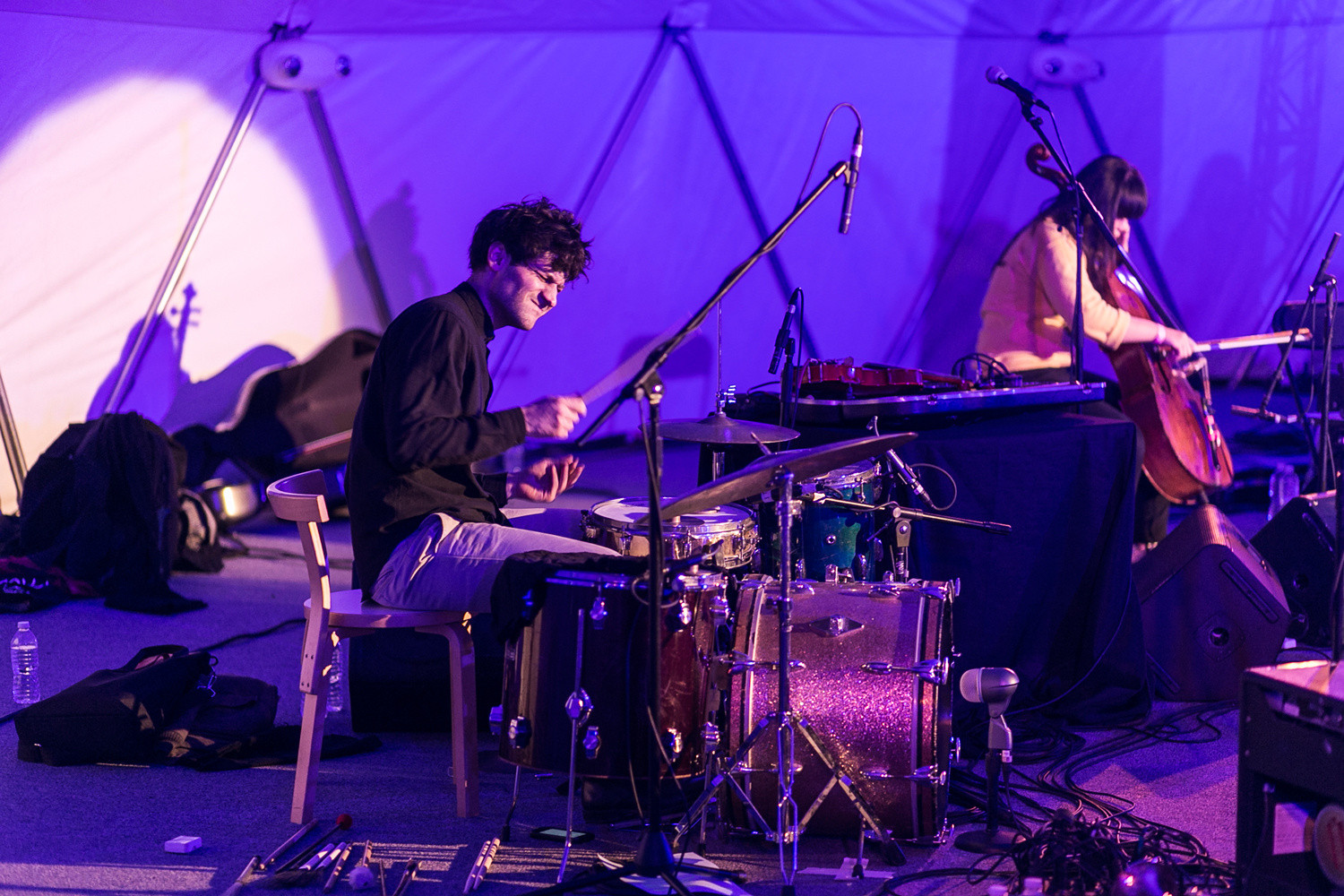 1+2+3: Solos, Duos, and Trios for Greater New York on November 15, 2015, presented at MoMA PS1 as part of VW Sunday Sessions 2015-2016. Photo by Charles Roussel.