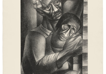 "Charles White (American, 1918-1979). Black Sorrow (Dolor Negro). 1946. Lithograph. 24 5/16 × 19 11/16"" (61.8 × 50 cm). Philadelphia Museum of Art: Purchased with the James D. Crawford and Judith N. Dean Fund, 2003. © The Charles White Archives"