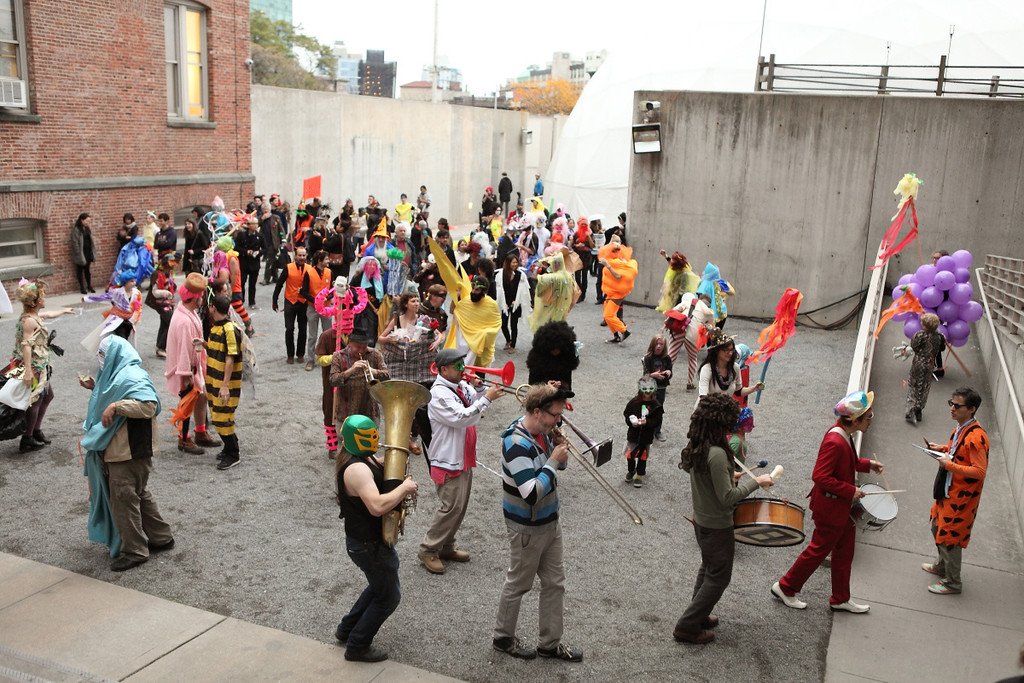 The First Annual Artists' Halloween Carnival and Parade on October 28, 2012, presented at MoMA PS1 as part of VW Sunday Sessions 2012-2013. Photo by Charles Roussel.