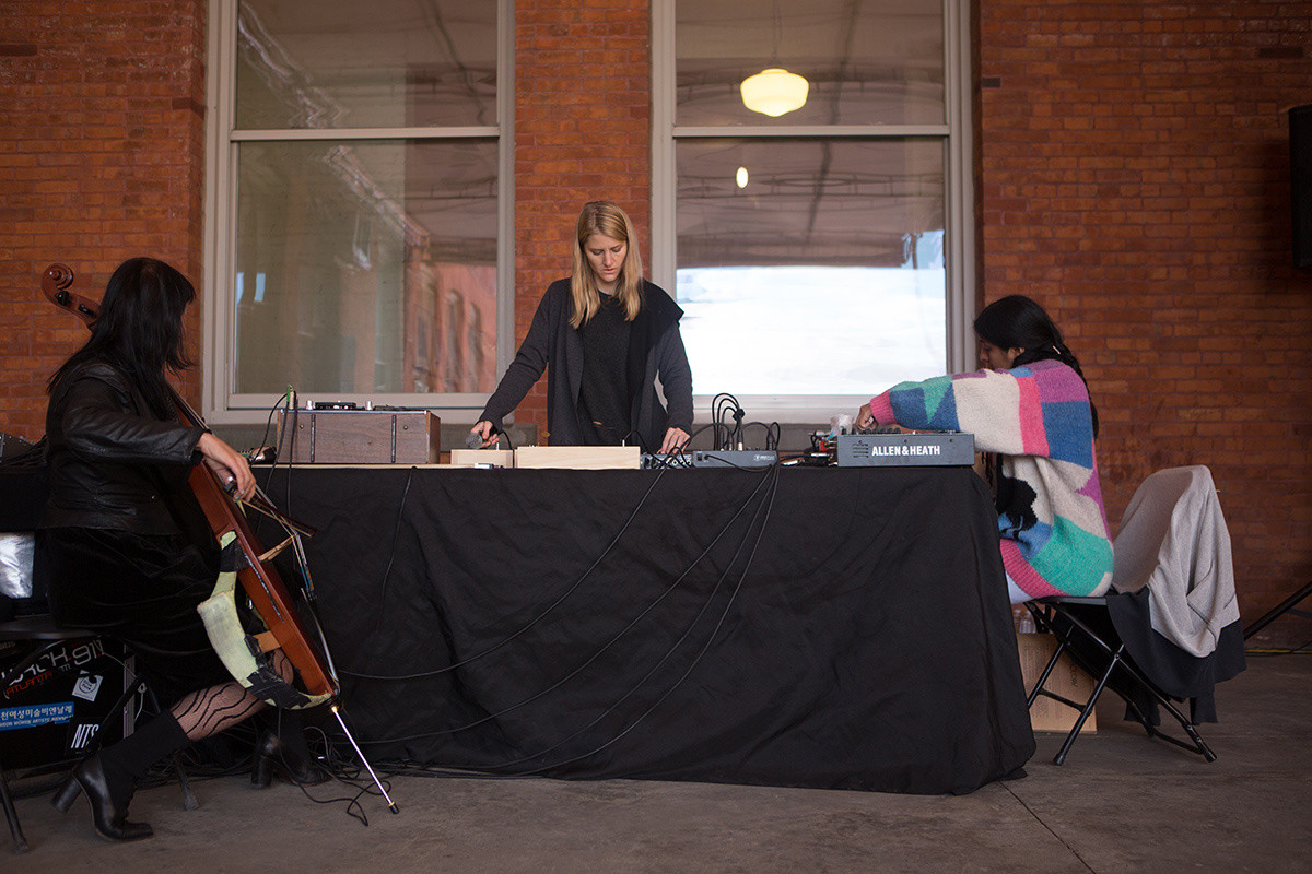 New Amsterdam presents Sound / Source on October 19, 2014, presented at MoMA PS1 as part of VW Sunday Sessions 2014-2015. Photo by Charles Roussel.