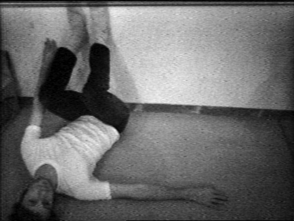 Bruce Nauman. *Wall-Floor Positions*. 1968. Video (black and white, sound), 60 min. The Museum of Modern Art, New York. Purchase, 2012. Distributed by Electronic Arts Intermix (EAI). © 2018 Bruce Nauman/Artists Rights Society (ARS), New York