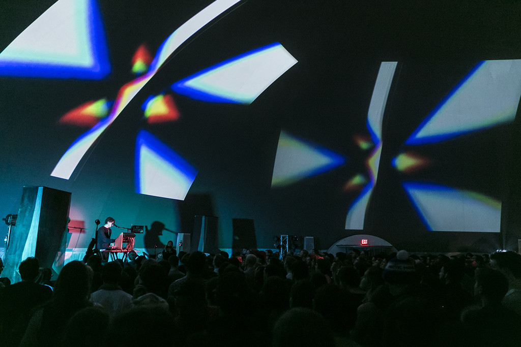 Panda Bear on January 11, 2015, presented at MoMA PS1 as part of VW Sunday Sessions 2014-2015. Photo by Charles Roussel.